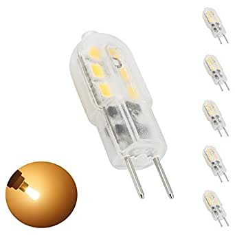 bonlux 5 packs 12v 3w led light bulb warm white 3000k bi pin jc type 20w halogen. Black Bedroom Furniture Sets. Home Design Ideas
