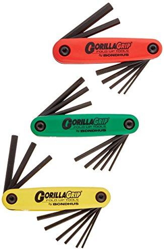 Bondhus 12533Triple Pack GorillaGrip hochklappen Werkzeug mit Proguard Finish, 2mm–8mm (Bondhus Gorilla Grip)