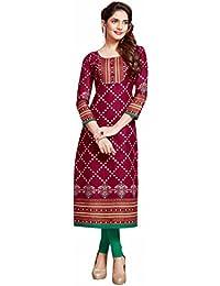 Miraan Women's Cotton Dress Material (BAZO1132_Free Size_Multi-Coloured)