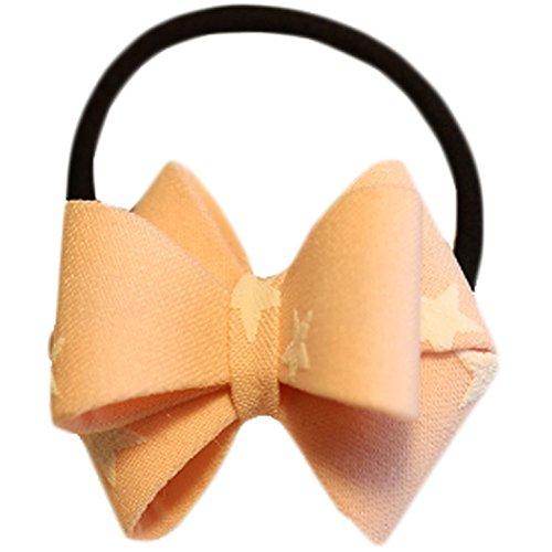 Hair Bands Mode Corde cheveux bowknot Accessoires cheveux(Pink étoiles)