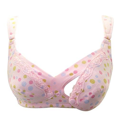 Zhhlaixing Pregnant Women Maternità Nursing Bra Front Open Bra Breast Feeding Underwear Hot Pink