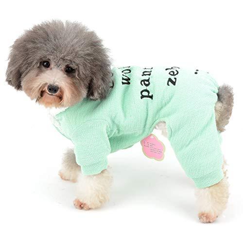 Ranphy Hundepullover, Pyjama für den Winter, für Chihuahua, Fleece-Futter, warmes Yorkie-Kostüm, für kleine Hunde und Katzen -