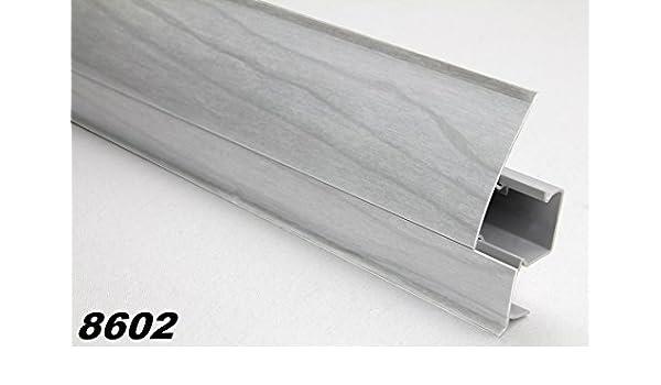 Modern Kabelkanal Endkappen links f/ür PVC Sockelleisten Fu/ßleisten Sockel Modell:8602