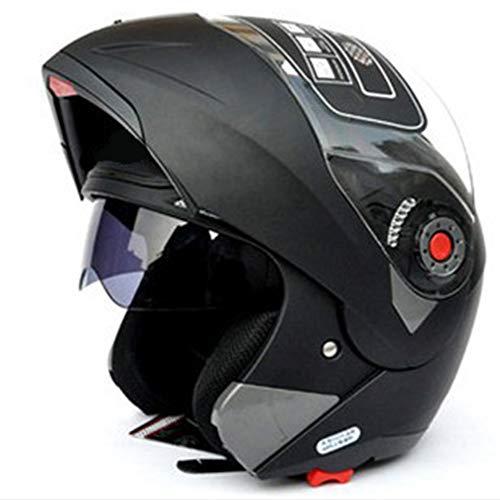 Casco integral de cara unisex modular abatible frontal ABS casco traje de...