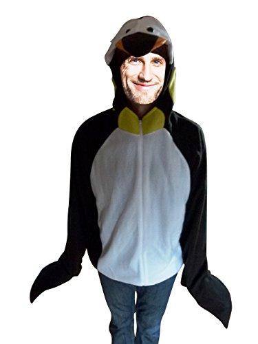 Pinguin-Kostüm als Jacke, F116, Gr. M, Fasnachts-Kostüme Tier-Kostüme, Pinguin-Kostüme Pinguine als Faschings- Karnevals Fasnachts-Geschenk für Erwachsene