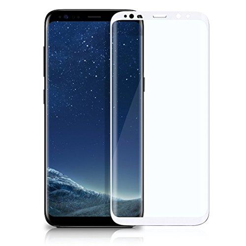 OneFlow 3D Panzerfolie für Samsung Galaxy S8 Panzerglas Full Screen Glasfolie [Tempered Glass Curved] Protector Glas Displayschutz-Folie für Samsung Galaxy S8 Schutzfolie, Weiss