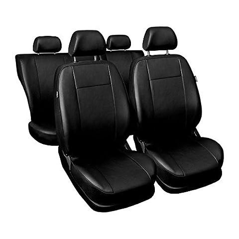 (CM-B) Universal Autoschonbezug-Set kompatibel mit SEAT (ALTEA, AROSA, CORDOBA, FURA, IBIZA, LEON, MALAGA, MARABELLA, TOLEDO) (Öko-Leder)