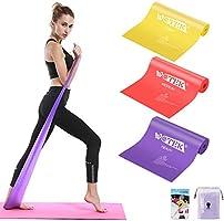 Elastici Fitness (Set di 3), Bande Elastiche Fitness con 3 Livelli di Resistenza, Fasce Elastiche fitness Ideale per...