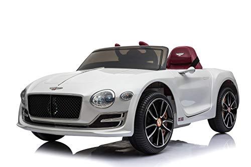Toyas Lizenz Bentley Kinder Elektrofahrzeug Kinderfahrzeug Kinderauto Elektroauto 2X 30W Motor Weiß