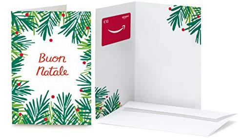 Buono Regalo Amazon.it - €10 (Biglietto d'auguri Foglie di Natale)