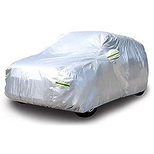 AmazonBasics - Telo copriauto argentato, resistente alle intemperie - in polietilene vinil acetato con cotone, per SUV fino a 550 cm
