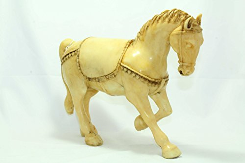 Rajathan Gems Inde Artisanat Résine Grand Cheval Figure Home Cadeau décoratif de l'article.
