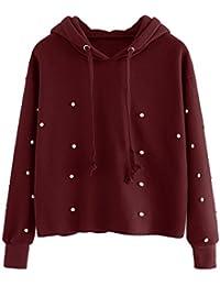 Cappuccio Abbigliamento Perla La Con Amazon Felpe it Felpe x0XwnqpF