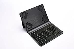 Tarkan Multi OS (Windows/Android / iOS) Bluetooth Magnetic Keyboard with Universal Stand Tablet Flip Case Cover for All 9-10 inch Tab