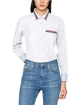 Tommy Hilfiger Jute Shirt Ls W2, Camisa Manga Larga para Mujer
