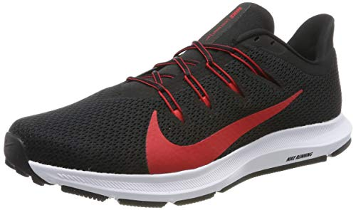 Nike Quest 2, Zapatillas de Running para Hombre, Negro (Black/Univ Red/White 001), 45 EU