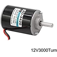 Crewell 12/24V 30W Imán Permanente DC Motor de Alta Velocidad CW/CCW para DIY generador