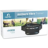 PetTec Antibark Vibra Trainer Antibell Erziehungshalsband mit automatischem Vibrations- oder Tonsignal