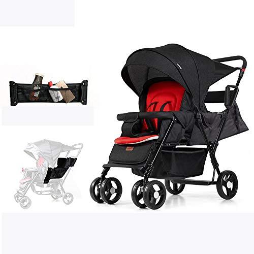 Ambiguity Kinderwagen,Vordere und hintere Twin Baby Wagen können Faltbare Kinderwagen Doppelsitzer liegen Werden