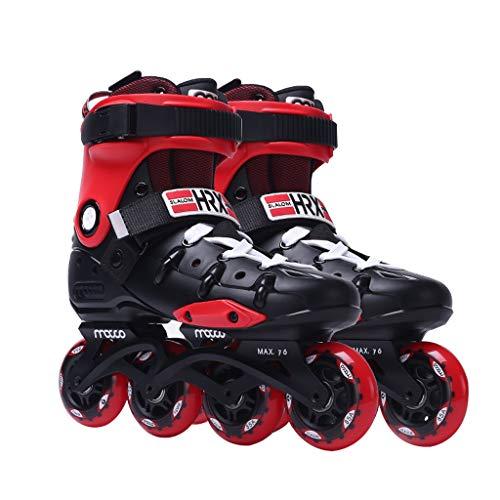 CHEXIAOlbx Erwachsener Damen and Herren Im Freien Professionell Inline Skates (Color : Red, Size : EU 35/US 4/UK 3/JP 22.5cm)