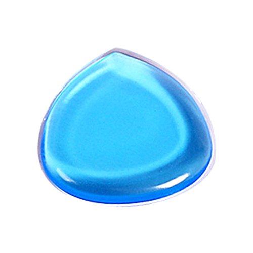 Yiitay Lot de 2 Coque en silicone Maquillage en forme de coeur Transparent Smile goutte d'eau éponge Poudre Puffs
