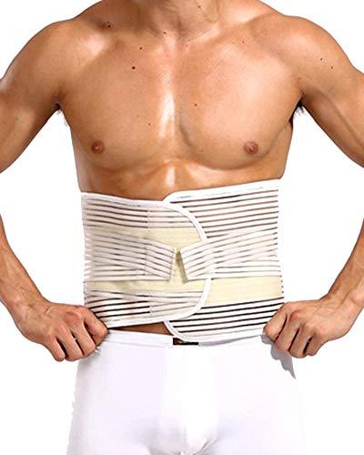 Herren Bauch Taille Trimmer Gewichtsverlust Wrap Gürtel Schweiß Bauchweggürtel Kaki XL