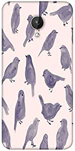 Snoogg Pigeon Paint Designer Protective Back Case Cover for Micromax Canvas Spark Q380