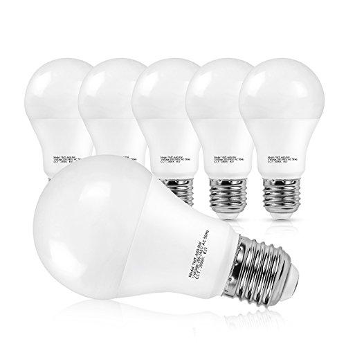 SHINE HAI E27 LED Lampe ersetzt 60W, 8W A60 LED Birne, Warmweiß 3000K LED Leuchtmittel, 800lm LED Rundstrahler, 6er Pack