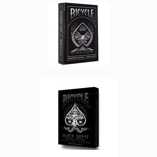 2 mazzi Carte Bicycle Black Ghost+Shadow Masters