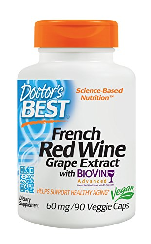 Doctor's Best, Best French Red Wine Extract, 90 Veggie Caps