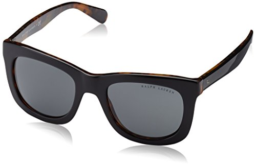 Ralph lauren 0rl81376087, occhiali da sole donna, nero (top black/jerry tortoise/grey), 51