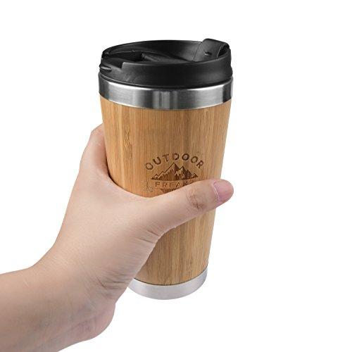 Kaffee Thermobecher aus Bambus von OUTDOOR FREAKZ – 450 ml - 2