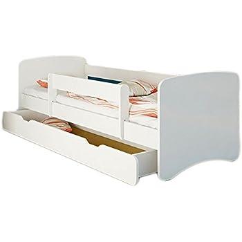 zearo kinder funktionsbett mit g ste auszugsbett 90x200 wei natur kiefer jugendbett. Black Bedroom Furniture Sets. Home Design Ideas