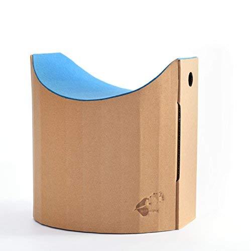 Kinderhocker Lollo aus Pappe Sitzfläche aus Wollfilz Aquamarin (Ökotex 100)