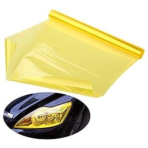 foxnovo 30 120cm imperm able voiture phare film film de teinte jaune clair brouillard. Black Bedroom Furniture Sets. Home Design Ideas