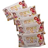 Mee Mee MM-33018 Baby Wet Wipes With Lemon Fragrance (5 Packs, 30 Sheets Per Pack)