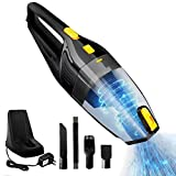 Jumedy Auto-Staubsauger - Auto trocken und nass 120W Hochleistungs-Superabsaugung Dual-Use-Wireless-Aufladung 3500Pa Vakuum