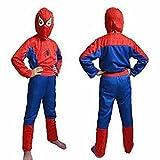 #4: Mindmasala Spiderman Costume For Kids For Fancydress Halloween (4-6 Years Medium)
