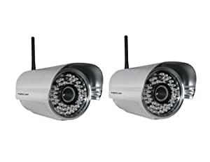 Foscam FI8905W Wireless/Wired Waterproof IP Camera with 30m Night Vision - Silver