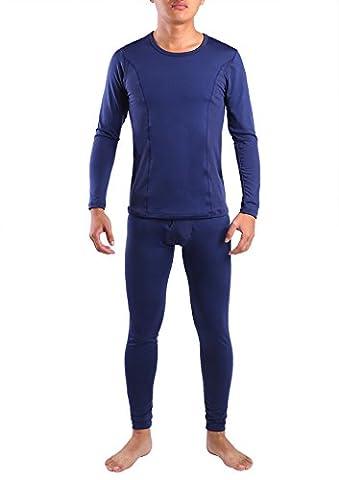 Yulee Men's Fleece Lined Thermal Underwear Long Johns Set Top & Bottom
