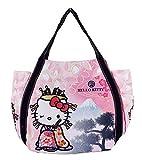 BLY Sanrio Hello Kitty Handtasche für Mädchen und Kinder, traditionelle japanische Muster, Kimono & Mt.Fuji, Japan Import 4026