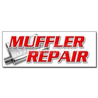 Schalldämpfer Reparatur Aufkleber Aufkleber Bremse Shop Auto-Öl Repair Änderungen Reparatur 24