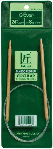 Clover Takumi Stricknadeln Bambus Rundstricknadeln 24-inchsize 9/5,5mm, andere, Mehrfarbig - Takumi Clover-stricknadeln