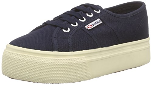 Superga 2790 acotw linea up and down, sneaker donna, blu (933 navy), 37.5 eu (4.5 uk)