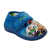 Boys Toy Story 4 Woody Buzz REX Character Touch Fasten Mules Slippers Size 6-12