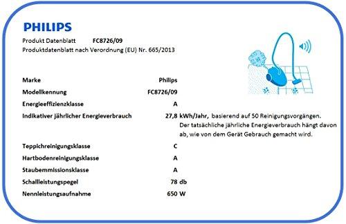Philips Performer Expert Animal FC8726/09 Staubsauger (EEK A, Beutel, Turbodüse) cognac [Energieklasse A] - 3