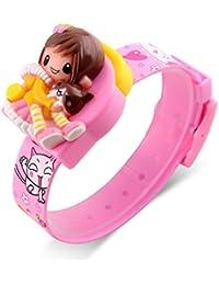 Auspicious beginning Novedad Barbie muñeca dibujos animados decoración digital reloj para niños niñas