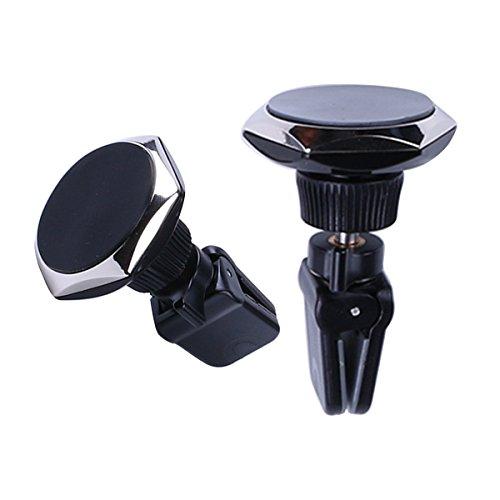 XFAY 360 Air Magnet - Handyhalterung Auto Magnet Lüftung Halterung Handy Handyhalter KFZ Smartphone iPhone Samsung Galaxy Navi - Farbe: Schwarz (Mount Vent Air Kit)