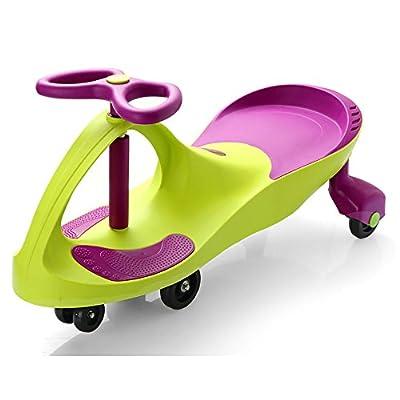 QFFL Niños que tuercen el coche / coche de juguete que hace pivotar / 1-3-6 años de niños viejos / rueda silenciosa / la gente doble puede sentarse / no lastimar el piso Coche de niño