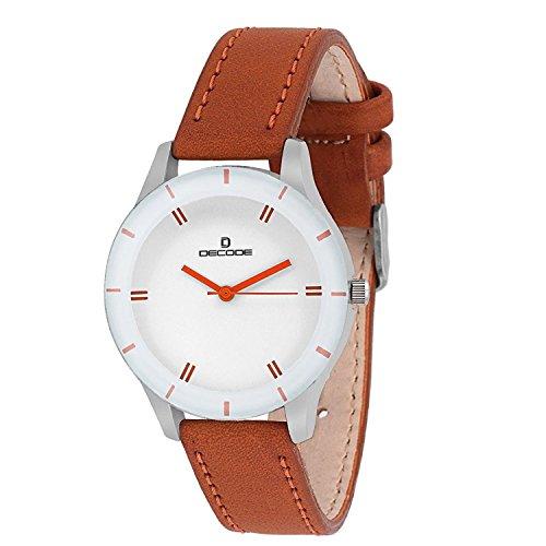 Decode LR0025 Elite White Brown Wrist watch for Women/Girls